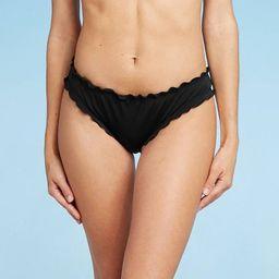 Women's Ruffle Cheeky Bikini Bottom - Shade & Shore™ | Target