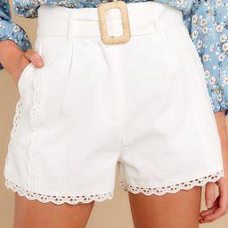 Giovanna White Shorts | Red Dress