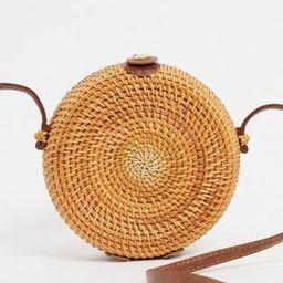 ASOS DESIGN emma circular rattan cross body bag | ASOS (Global)