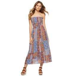 Scoop Women's Strapless Smocked Midi Dress   Walmart (US)
