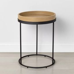 Wood & Steel Accent Table Black - Hearth & Hand™ with Magnolia | Target