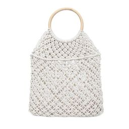 Women Round Beach Bag Straw Handmade Rattan Circle Hollowed Bag Fishing Net Portable Holiday Summer    Walmart (US)