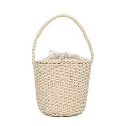 Women's Fashion Straw Woven Bag Solid Color Handbag Wild Casual Bucket Bag   Walmart (US)