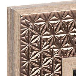 Bronze Wooden Medallion Mirror, 31x65 in.   Kirkland's Home