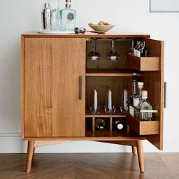 Mid-Century Bar Cabinet - Small | West Elm (US)
