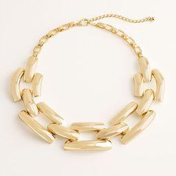 Goldtone Link Bib Necklace   Chico's