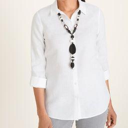 Linen Roll-Tab Sleeve Shirt   Chico's