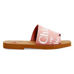 Chloé Women's Woody Flat Sandals - Delicate Pink - Size 36 (6) | Saks Fifth Avenue