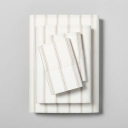 Tic Stripe Organic Cotton Sheet Set - Hearth & Hand™ with Magnolia | Target