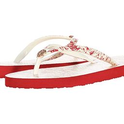 Tory Burch Printed Thin Flip-Flop (Red Destination/Red Destination) Women's Sandals | Zappos