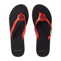 Tory Burch Minnie Flip-Flop (Grenadine/Tory Navy/Multi) Women's Shoes | Zappos