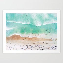 Beach Mood Art Print by galdesign | Society6