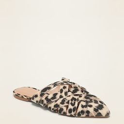 Faux-Leather Braided Mule Flats for Women | Old Navy (CA)