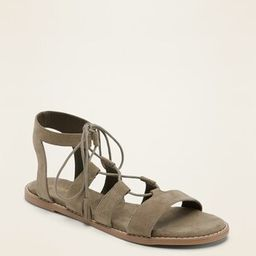Faux-Suede Lace-Up Gladiator Sandals for Women | Old Navy (CA)