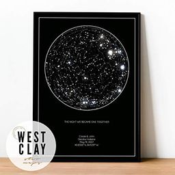 Personalized Star Constellation Map, Minimal Star Chart, Night Sky Poster   Amazon (US)