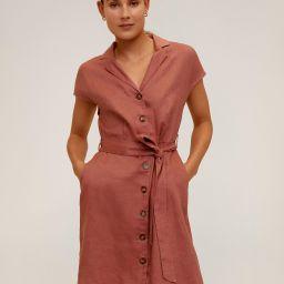 Belt linen dress | MANGO (US)