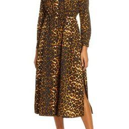Leopard Print Long Sleeve Shirtdress   Nordstrom Rack