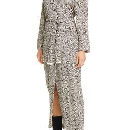 Capri Zebra Print Long Sleeve Shirtdress   Nordstrom