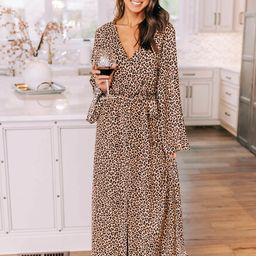 Love Of The Wild Animal Print Maxi Dress CLEARANCE   The Pink Lily Boutique