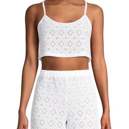 Social Angel Women's Analise Scooped Front Crop Top Cover Up | Walmart (US)