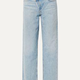 AGOLDECriss Cross Upsized distressed high-rise wide-leg jeans   Net-a-Porter (US)