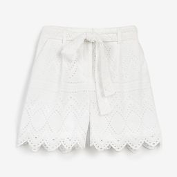 Super High Waisted Lace Belted Shorts | Express