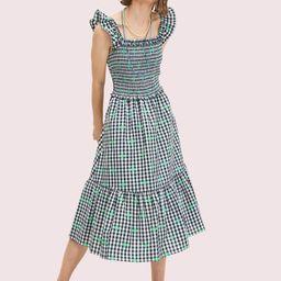 gingham voile smocked dress | Kate Spade (US)