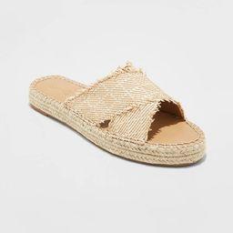 Women's Sonya Woven Cross-Band Slide Sandals - Universal Thread™   Target