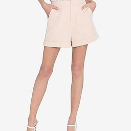Endless Rose High Waisted Tailored Shorts   Express