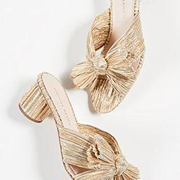 Emilia Pleated Knot Mules | Shopbop