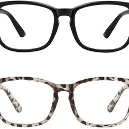 Blue Light Blocking Glasses, Anti Eye Strain Headache (Sleep Better),Computer Reading Glasses UV4... | Amazon (US)