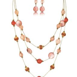 Illusion Beaded Necklace & Earring Set   Charming Charlie