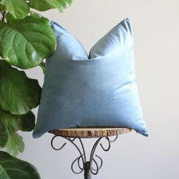 Blue Velvet Pillow | Etsy (US)