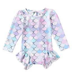 Binwwede Girl Mermaid Swimwear Long SleeveBikini | Walmart (US)