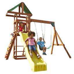 Swing-N-Slide Scrambler Wooden Play Set with Slide | Walmart (US)