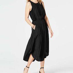 J.Jill Women's Casual Dresses BLACK - Black Shirttail Sleeveless Midi Dress - Women   Zulily