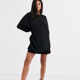 ASOS DESIGN Tall oversized sweat dress in black   ASOS (Global)