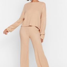Knit Alone Sweater and Wide-Leg Lounge Set | NastyGal (US & CA)