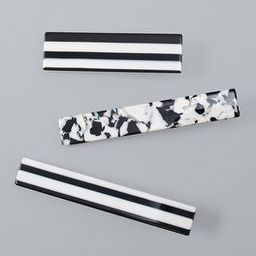 Black & White Hair Clips, Set of 3 | White House Black Market