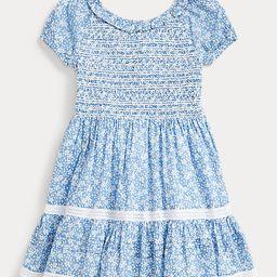 Floral Smocked Cotton Dress   Ralph Lauren (US)