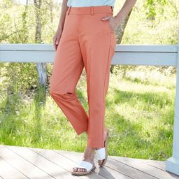 Women's Mid-Rise Slim Ankle Pants - A New Day™ Coral | Target