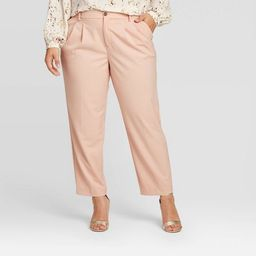 Women's Plus Size Pleat Front Trouser - A New Day™ | Target