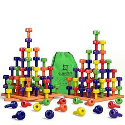 stacking peg board toy set | jumbo pack | montessori occupational therapy fine motor skills for t... | Walmart (US)