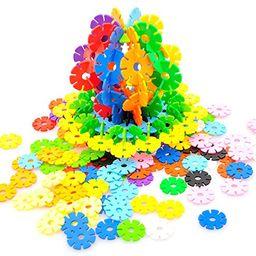 Rainbow Snow Flakes 300 Discs | STEM Educational Brain Building Toy | Interlocking Plastic Constr... | Walmart (US)