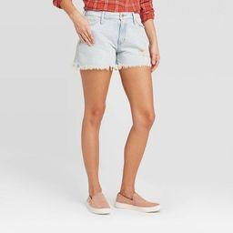 Women's High-Rise Distressed Jean Shorts - Universal Thread™ Light Wash   Target