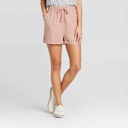 Women's Mid-Rise Tie Front Utility Shorts - Universal Thread™   Target
