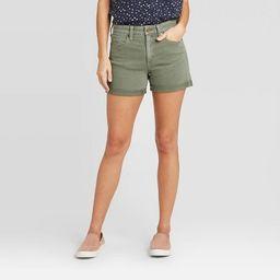 Women's High-Rise Short Jean Shorts - Universal Thread™ Dusty Olive   Target