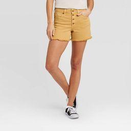 Women's High-Rise Jean Shorts - Universal Thread™ Golden Bronze   Target