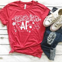 Canadian AF / Adults Canada Day Shirt / Canada Day / Canada Tshirt / Canadian / Funny Canada Day ... | Etsy (US)