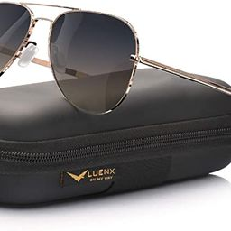LUENX Aviator Sunglasses for Men Women Polarized - UV 400 Protection with case 60MM | Amazon (US)